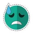 cartoon crying face emoticon funny vector image vector image