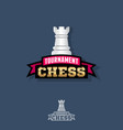 chess tournament logo competition emblem vector image vector image