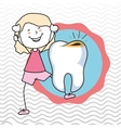 child tooth isolated icon design vector image vector image