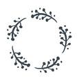 christmas scandinavian hand drawn floral vector image vector image