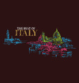 city panorama of florence italy vector image