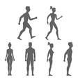 Collection of silhouettes man and woman isolated vector image vector image