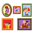 collection of the photos frame vector image