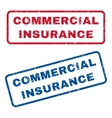 Commercial Insurance Rubber Stamps vector image vector image