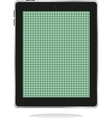 computer tablet pc with green abstract screen vector image vector image