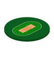 cricket field in isometric view stadium vector image vector image