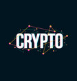 crypto colored headline logo design vector image