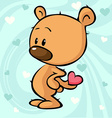 cute teddy bear design - on abstract backgro vector image vector image