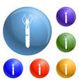 dad tie icons set vector image