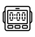 digital kitchen timer icon outline style vector image