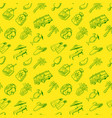 doodle seamless pattern with summer beach cute vector image vector image