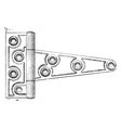 door style hinge pivot style vintage engraving vector image vector image