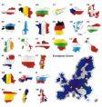 European Union Map vector image