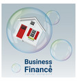 finance concept background with housing bubble vector image vector image