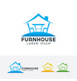 furniture house logo design vector image