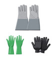 glove and winter logo set vector image