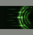 green circle digital abstract pixel background vector image vector image