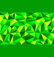 green color low poly art background vector image
