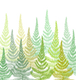 Hand drawn Decorative pattern with fern vector image vector image