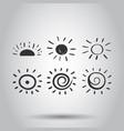 hand drawn sun icon set sun sketch doodle vector image vector image