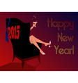 Happy New 2015 vector image vector image