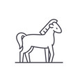 horse line icon concept horse linear vector image