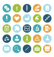 icons plain circle medical vector image vector image