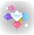 Infographic element Different squares vector image