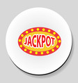 jackpot winnings inscription sticker icon flat vector image vector image