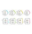 lock 24h service and servers icons set seo sign vector image vector image