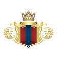 luxury crest logo hotel restaurant vector image