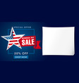 memorial day sale banner template vector image vector image