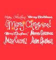 merry christmas happy new year handwritten vector image vector image