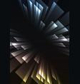 metallic overlap stripe rush in dark background vector image