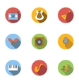 Musical tools icons set flat style vector image vector image
