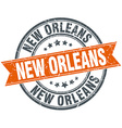 New Orleans red round grunge vintage ribbon stamp vector image vector image