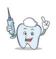 nurse tooth character cartoon style vector image vector image