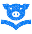pig knowledge icon grunge watermark vector image