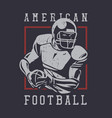 poster design american football with football vector image vector image