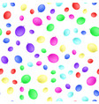realistic color balloons seamless pattern flat vector image vector image