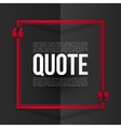 Red quote frame with white placeholder text at vector image vector image