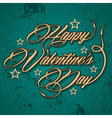 Retro Happy Valentines Day greeting vector image vector image