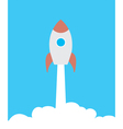 rocket blast off vector image