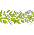 sage branch pattern vector image vector image