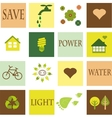 save environment eco set vector image