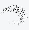 silhouette a flock birds black contours of vector image vector image