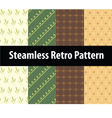 Steamless Retro pattern vector image vector image