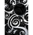 swirl design background vector image vector image