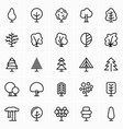 trees and spruces icon vector image vector image