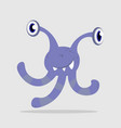 violet funny cartoon monster alien or bacterium vector image